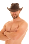 bare chest hat